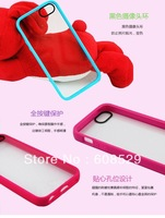 Original Belkin Double Colors Transparent PC + TPU Case For iPhone 5 5G 5S , 10pcs/lot Free Shipping