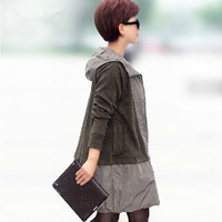 New Spring 2014 Show Thin A Pendulum Fashion Women'S Paragraph Dust Coat Hooded Women'S Coat Trench Coat For Women