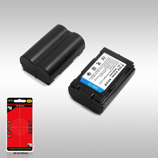 Camera Battery Replace For PANASONIC S602E/DC1/DC14 Fit For DMC-LC1/40/LC40K/LC40S/LC5/LC5B/LC5K/LC5S/L1 7.2V 1400mAh(China (Mainland))