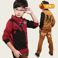 Free Shipping,2014 Children's clothing sets,Boy's spring set,Casual sweatshirt set,100% cotton,2 pieces/set,Long sleeve T-shirt