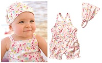Summer baby girl suit/2-piece set: colorful baby romper+ baby headband/2014 new arrival