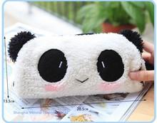 Kawaii Plush Fluffy Panda Student Pen Pencil BAG Pouch Case Pack Pendant Cosmetics & Beauty Pouch Bag Case Coin Purse Wallet BAG(China (Mainland))
