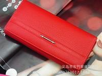 2014 korean style women's handbags wallet long leather wallet lady's wallet 8 colors