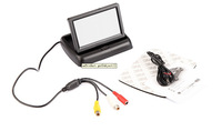 "4.3"" Foldable TFT Color LCD  2 CH Channels car Reverse Rearview  4.3 inch car Monitor for Camera DVD VCD camera 12V"