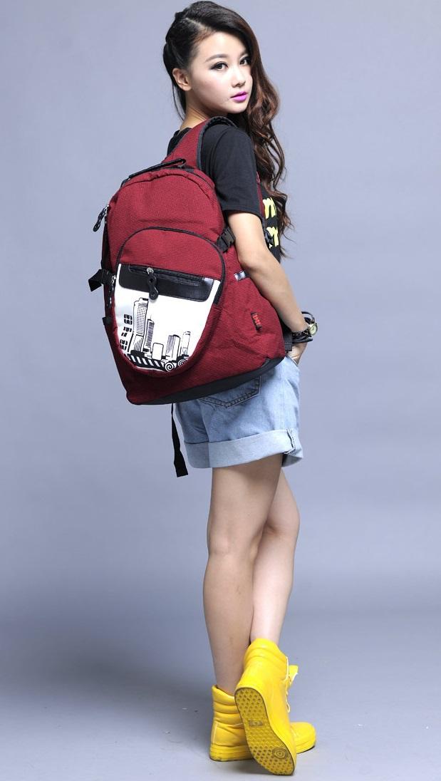 Men's City Life Designer college Backpack Book Bags Girls Women's ...