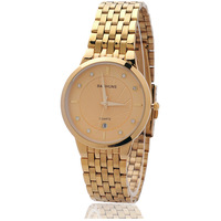 Free HK Shipping New Luxury Brand BaiShuns Ultra-Thin Dial Gold Quartz Watches for Men Time Calendar Display Top quality