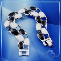 2014 New Arrival White Gold Plated Opal Bracelets & Bangles Wholesale Fashion High Quality Women Charm Bracelet Free Shipping