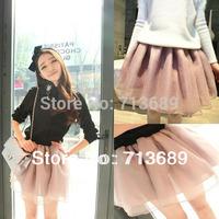 Free shipping 2014 women's skirt female high waist puff skirt bust skirt ball gown short skirt 3 color choose 6026