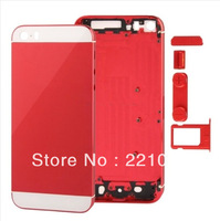 Wholesale  Full Housing Faceplates for iPhone 5s w/ Buttons SIM Card Tray   2pcs/lot