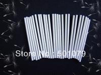 "New wholesale 100pcs/lot Cake Paper Sticks Lollipop Sticks Candy Making Mold White 85mm*3mm(3"")"