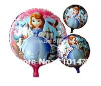 2014 New Free shipping 50pcs/lot Foil balloon,Helium balloon 18inches sofia princess balloons
