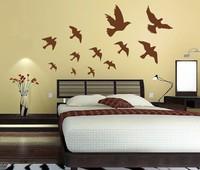 Free shipping!!  JM7033 birds wall sticker room wall decoration