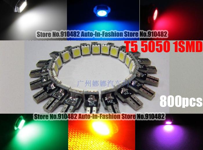 Лампочка освещения прибора AUto-In-Fashion 800pcs T5 37 58 70 73 5050 SMD PCB лампочка освещения прибора oem 4 1 12v 1xaq