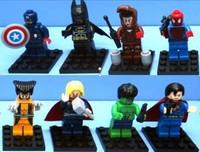Super Heroes Figures 80pcs/lot The Avengers Superman Batman Iron Man Spider-Man Action Minifigures Bricks Toys Have original box