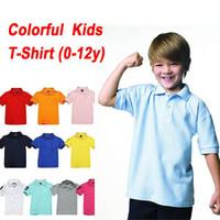 Children Boys /Girls T shirts Short-sleeve turn-down collar Blouse Shirt for Girl/Boy School Clothing Brand Kids Summer Tops