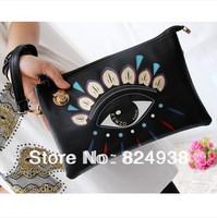 2014 new printing large eyes Clutch Clutch Shoulder / Messenger Bag handbags fashion envelope banquet