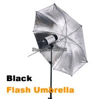 """33"""" 83 cm Black Silver Photo Light Studio reflector Umbrella for studio flashes Photo Studio Accessories"""