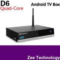 10MOONS D6 quad-core tv box Allwinner A31s+a7 1GB/8GB WIFI with HDMI cable+remote control