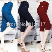 2014 plus size trousers summer XL-6XL plus size plus size capris pants, free shpping