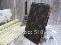 Business Style Genuine Leather Case For Samsung I9220 / N7000 Galaxy Note1 Real Leather Case + Orignial Luxury Retail Box