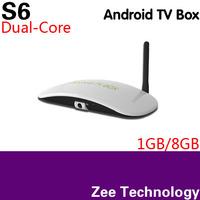 Shining S6  EYE dual-core tv box AML8726MX+a9 1GB/8GB WIFI with HDMI cable+remote control camera mic