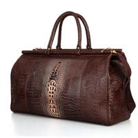 Crocodile Women Travel Bags Boarding Commercial luggage travel bag Men travel bags Large Capacity Bag