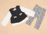 Baby-girls velvet waistcoat+subcoat+leggings 3 pc sets baby autumn outfits