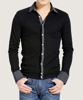 2014 new High quality  plus size T-shirt Men's long-sleeve t shirt Spring Fashion casual shirt male clothing