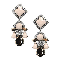 crystal earrings 2014 new famous Shourouk design luxury flower fashion women drop earrings vintage elegant statement   jewelry