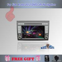 "Koason Rear Camera  GPS Navigation 3D PIP Map 7"" 2 Din Car DVD Player For Fiat Bravo 2012 Bluetooth TV Radio Steering Wheel"