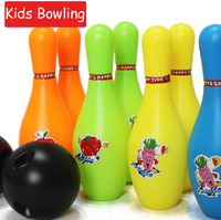 (8 bottle and 2 ball) safety kids child children Bowling gutterball TECMO BOWL ball toys indoor sports play