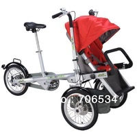 new arrival MYC-02A Mg Alloy child and mother stroller bike portable tricycle three wheels adjustable baby seat free shipping