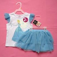 Newest Baby-girls Lace Posh top+TUTU skirts sets princess Aurora dancewear summer outfits
