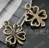 200pcs/lot Zinc alloy bead Antique Bronze Plated four leaf clovers Shape Charms Pendants Fit Jewelry Making DIY 14*13MM JTA1179