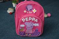 2014 New peppa pig baby girls boys schoolbag Pepe pig Children Backpack schoolbag cartoon backpack kids bags 131008 #