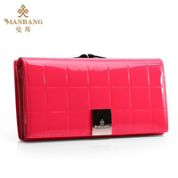 Fashion honourable elegant 2013 women's wallet long design genuine cowhide leather wallet Mbq01671H free shipping