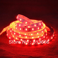 free shipping NEW High Brightness Red Color DC12V 5M 60leds/m 300leds Nonwaterproof SMD5630 LED Flexible Strip Light