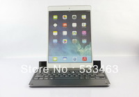 For ipad  air keyboard aluminum with bluetooth  case for iPad 5,Wireless with stand cover wholesale/retail Free Shipping