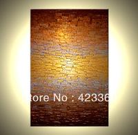 Original Abstract Painting, Metallic Art, Modern Palette Knife Painting, 24x36