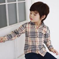 Children shirt Sale Limited Regular Fashion Boys Shirts 2015 Spring Plaid Paragraph Boys Clothing Baby Child Long-sleeve Shirts