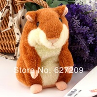 Lovely Talking Hamster Plush Toy Hot Cute Speak Talking Sound Record Hamster  Toy Animal Newest