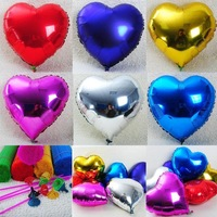 Love heart aluminum foil wedding ballons 18 inch multicolor party baloons decoration 50pcs+inflator Free shipping