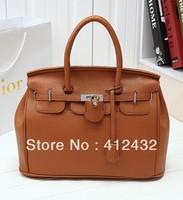 2013 autumn and winter women's PU leather  handbag fashion vintage shoulder bag messenger bag handbag free shipping P70