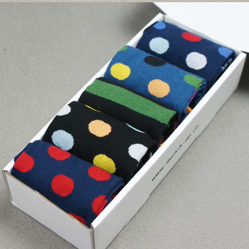 Free shipping Men's gift box cotton socks combed brand men socks, US Size(7.5-12) (5 pairs / lot ) gift-E(China (Mainland))