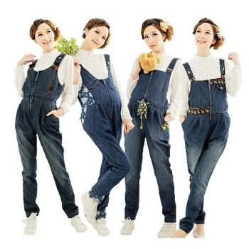 Корейский для беременных одежда женщин деним комбинезон для беременных нагрудник ...