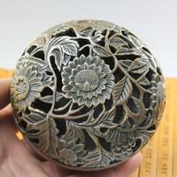 Brass blooping rich shoulu santalwood hob aromatherapy copper incense burner buddha with furnace