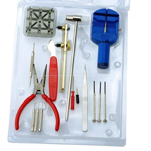 16pcs/Set Horologe Wrist Watch Case Opener Repair Tools Kit 1set/lot Free Shipping[JW20001](China (Mainland))