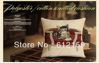 2014 High quality cat sleeping on sofa  size 45*45cm  Multi-function pillow cushion cover