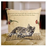 2014 High quality Cute cat size  45*45cm  Multi-function pillow cushion cover