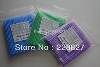 Free Shipping 300 pcs Disposable Eyelash eye lash Micro Brush Applicators for Eyelash Extension Removal #1.0mm 1.5mm 2.0mm